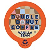 Double Donut Vanilla Bean Flavored Coffee, in Recyclable Single Serve Cups for Keurig K-Cup Brewers, 24 Count