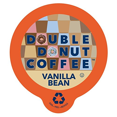 Double DonutVanilla BeanFlavored Coffee, in Recyclable Single Serve Cups for Keurig K-Cup Brewers, 24 ()