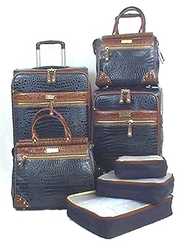 Samantha Brown 7 Piece Classic Luggage Set - 25'' Upright, 21'' Upright, 2 Dowel Bags, Plus extras - Navy Blue by Samantha Brown