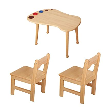 Folding table and chair Mesas Y Sillas De Madera Maciza para ...