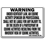 KENTUCKY Equine Sign activity liability warning statute horse farm barn stable