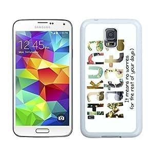 Popular Hakuna Matata TPU Phone Case for Samsung Galaxy S5 Durable Soft Rubber Silicone S5 White Cover