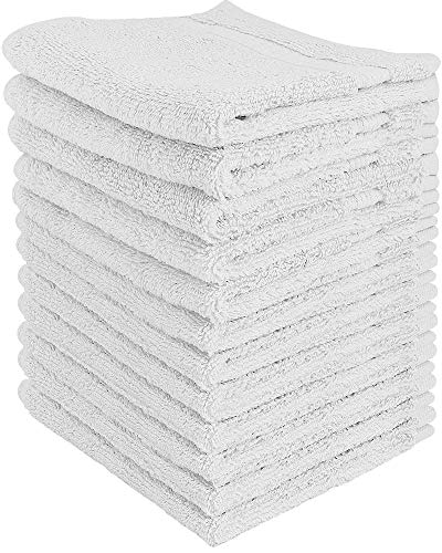 Utopia Towels 600 GSM Washcloths, 12 Pack, White