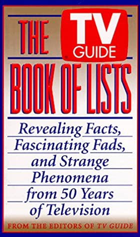 the tv guide book of lists revealing facts fascinating fads and rh amazon com TV Guide for Tonight TV Guide Listings Today