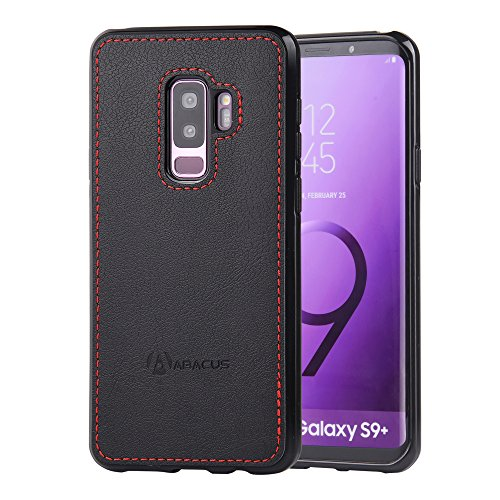 Abacus24-7 Samsung Galaxy S9 PLUS Case, Slim Bumper Back-Protection S 9+ Cover, Black