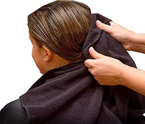 Black 24 Pack Bathroom Towels Salon Simpli-Magic 79237 Cotton Hand 16x27 Gym