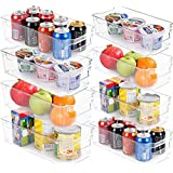 KICHLY (Set of 8) Pantry Organizer - Include 8 Organizer 4 Large & 4 Small Drawers Stackable Fridge Organizers for Freezer, Kitchen, Countertops, Cabinets