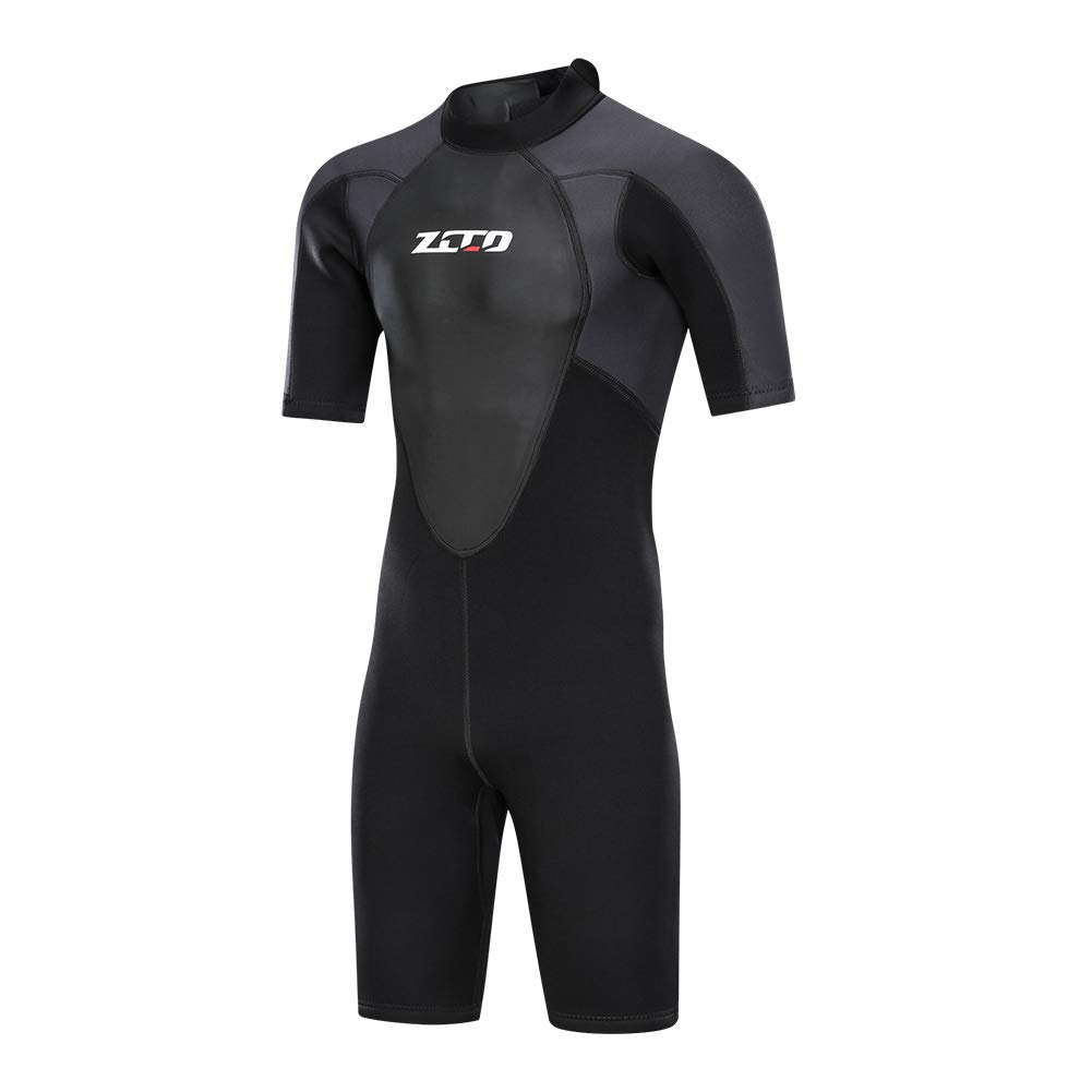 ZCCO Shorty Wetsuit Men's 3mm Premium Neoprene Full Sleeve for Snorkeling, Surfing,Canoeing,Scuba Diving Suits (3MM, L) by ZCCO