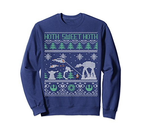 Unisex Star Wars Hoth Sweet Hoth Ugly Christmas Sweater Sweatshirt Medium Navy ()