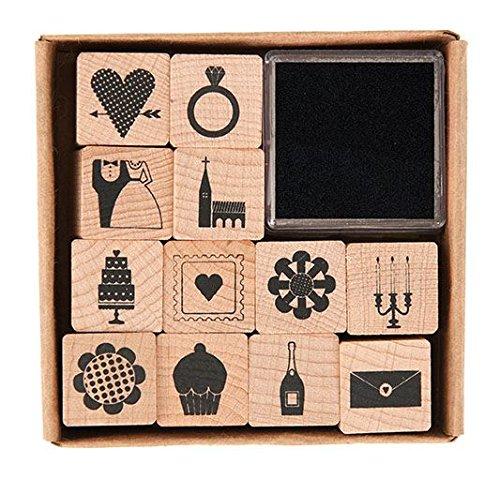 12 pezzi Set di stampini motivo matrimonio 20 x 20 mm Rico