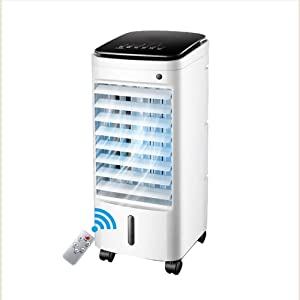 IhDFR Portable Air Conditioner, Dehumidifier, Cooling Fan, LED Display, 3 Fan Speed, Remote Control, White