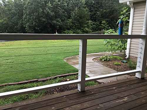 Muzerdo 200Ft Stainless 1/8Inch Aircraft Steel Wire Rope Cable 7x7 for Railing, Decking, DIY Balustrade by Muzerdo (Image #7)