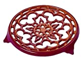Le Creuset Enameled Cast-Iron 9-Inch Deluxe Round Trivet, Cerise (Cherry Red)