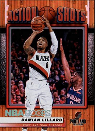 2018-19 Panini Hoops Action Shots #22 Damian Lillard Portland Trail Blazers Basketball Card