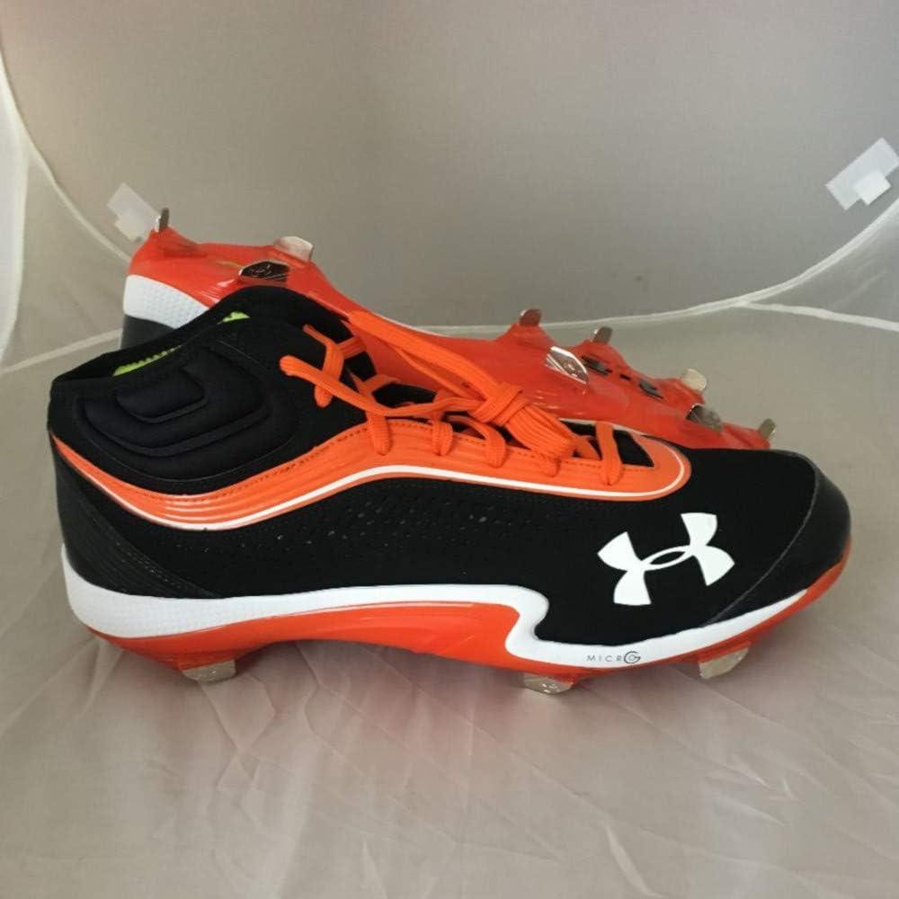 Under Armour New Team Heater IV ST Baseball Cleats Black//Orange Sz 15