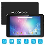 Dragon Touch V10 10 inch GPS Android Tablet Android 7.0 Nougat MTK Quad Core 1GB RAM 16GB Storage, 800x1280 IPS Display with Bluetooth 4.0 and Mini HDMI