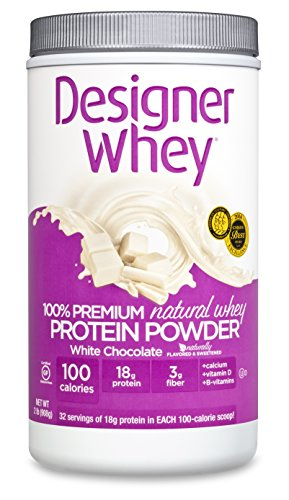 DESIGNER WHEY 100% Premium Whey Protein Powder, chocolat blanc, 32 once Container