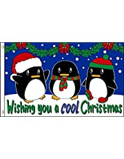 Wishing you a cool christmas flag 150x90cm - Wishing you a cool christmas flag 90 x 150 cm - Vlaggen - AZ FLAG