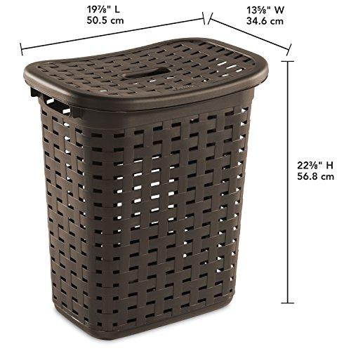 Sterilite 12766P04 Weave Laundry Hamper, Espresso, 4-Pack by STERILITE (Image #2)