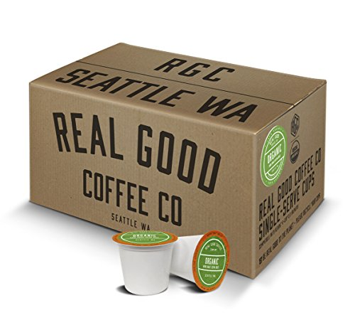 Real Good Coffee Co Recyclable K Cups, USDA Certified Organic Dark Roast, For Keurig K-Cup Brewers, 72 Single Serve Coffee Pods