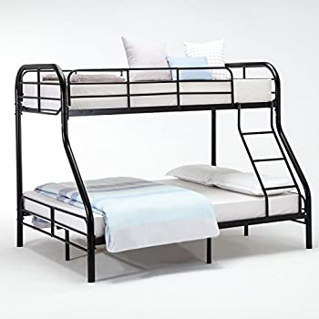 Amazon Com Dfm Metal Twin Over Full Bunk Beds Ladder