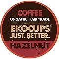EKO Cups Artisan Organic Hazelnut Flavored Coffee, Medium Roast, in Recyclable Single Serve Cups for Keurig K-cup Brewers, 20 count