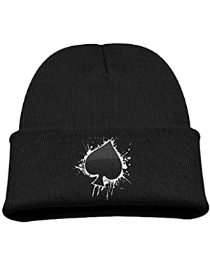 Unisex Youth Adjustable Skull Caps Slouchy Baseball Cap For Poker Ace Of Spades