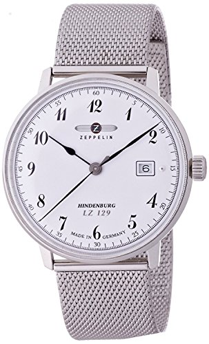 ZEPPELIN watch Hindenburg white dial Date 7046M1 Men's [regular imported goods]