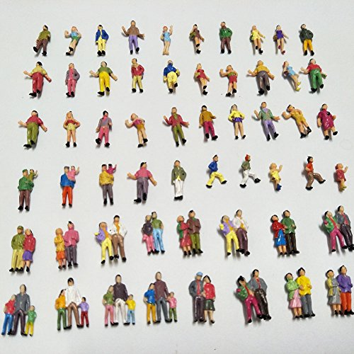 People Ho Scale - CWBPING 100pcs 1:87 HO Scale Hand Painted Model Train Park Street Passenger People Figure