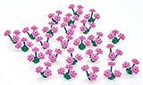 25 Dark Pink LEGO Flowers