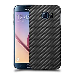 Case Fun Carbon Fibre Pattern Snap-on Hard Back Case Cover for Samsung Galaxy S6