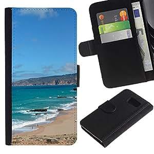 Ihec-Tech / Flip PU Cuero Cover Case para Samsung Galaxy S6 SM-G920 - Iberian Peninsula
