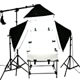 CanadianStudio STUDIO IN A BOX PHOTO LIGHT PHOTOGRAPHY SET Continuous Light Kit 1500W output,3 softboxes with shooting table - FREE SHIPPING