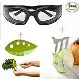 Onion goggles, onion slicing tools, vegetable leaf peeling tools. A three-piece