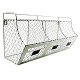 Rustic Chicken Wire Wall Storage 3 Bin Basket Primitive Country Farmhouse Decor