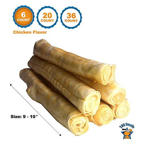 123 Treats Rawhide with Chicken Retriever Roll 9