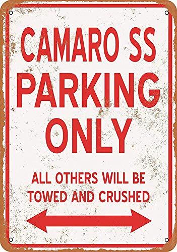 カマロSS駐車場のみ 金属板ブリキ看板警告サイン注意サイン表示パネル情報サイン金属安全サイン