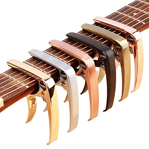 HOT SEAL Colorful Creative Simple Zinc Alloy Guitar Ukulele Generic Capo Quick Change (Rose - Is Shipping Economy Usps
