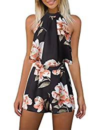 Women's Floral Printed Summer Dress Romper Boho Playsuit...