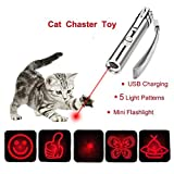 Multi-pattern Funny Cat Chaser Toy LED Light Interactive Chase Cat Toys, Used as