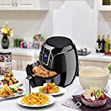 Safeplus Air Fryer 1400W 3.4Qt Time Control Touch LCD Electric Hot Airfryer Oven With Adjustable Temperature, Air Oil Free Fryer Smokeless Kitchen Cooker