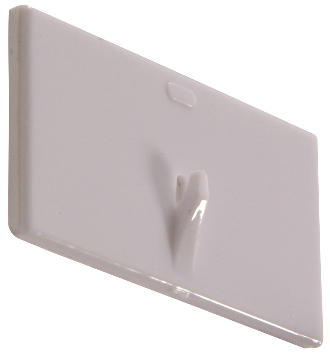 The Hillman Group 852985 Plastic Picture Hanger- White - Adhesive Backed 2-Pack
