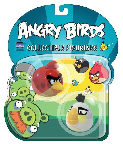 Angry Birds Red and White Birds Collectible Figurines (Angry Birds Red)