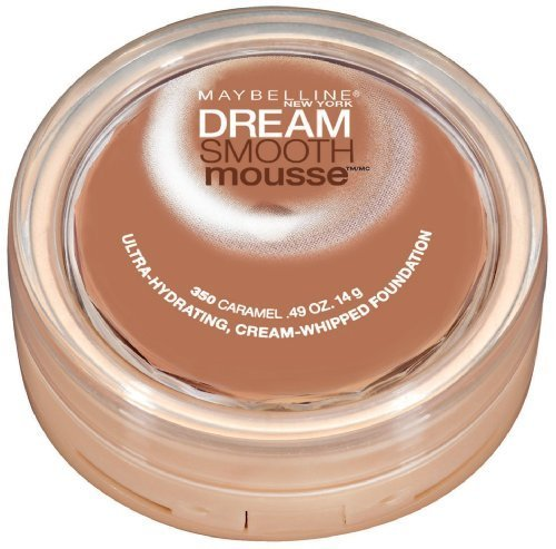 Maybelline New York Dream Smooth Mousse Foundation, #350 Caramel, 0.49 Ounce(2 Pack)