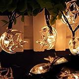 ECHTPower(TM) 21ft 30 LED Moon Solar String Christmas Lights with Sensor