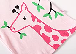 Hugbug Girls Pretty Giraffe Cotton Long Sleeve Toddler Pajamas for Kid Girls 2T