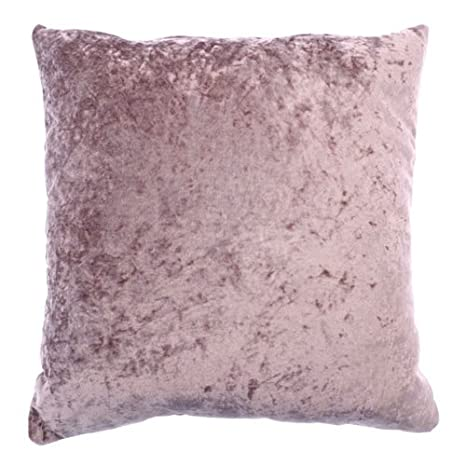 2 Pack of Country Club Bliss Cushion Covers Crushed Velvet Square Sofa Bed 43cm