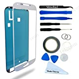 Front Glass forSamsung Galaxy S4 i9500 i9505 Series White Display Touchscreen incl 12 pcs Tool Kit / Pre-cut Sticker / Tweezers/ Roll of 2mm Adhesive Tape / Suction Cup / MetalWire / Microfiber cleaning cloth MMOBIEL