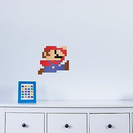 Amazon.com: 8-bit Mario Vinyl Wall Art Sticker: Home & Kitchen