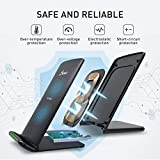 Seneo Wireless Charger, Qi Certified 7.5W Fast Wireless Charging Stand Compatible with iPhone Xs/Xs max/XR/X/ 8/8 Plus, 10W Fast Wireless Charger Stand for Galaxy Note 9/8/5 S9/S9+/S8/(No AC Adapter)